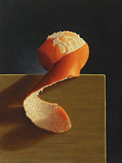 Tangerine Paintings - Peeled 2 by Paul Coventry-Brown