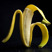 Peeled Prints - Peeled banana. Print by Bernard Jaubert