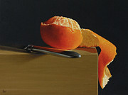 Tangerine Paintings - Peeled Tangerine by Paul Coventry-Brown