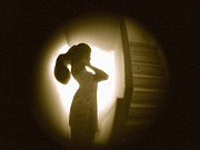 Gestures Digital Art Posters - Peephole Poster by Yogesh More