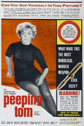 1960 Movies Posters - Peeping Tom, 1960 Poster by Everett