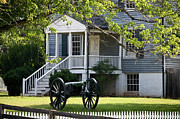 Confederate Monument Photo Prints - Peers House and Cannon Appomattox Court House Virginia Print by Teresa Mucha