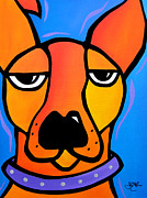 Acrylic Abstract Art Paintings - Peeved by Tom Fedro - Fidostudio