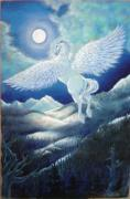 Night-scape Paintings - Pegasus by Heather Calderon