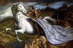 Mythological Painting Posters - Pegasus Poster by Jane Whiting Chrzanoska