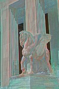 Greek Gods Paintings - Pegasus On Guard by Earl Jackson