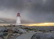 Road Travel Posters - Peggys Cove - Halifax, New Scotland Poster by Abderazak Tissoukai