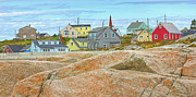 Peggy's Cove Print by Doug Keech