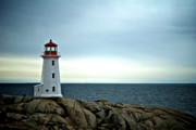 Halifax Photography Halifax Nova Scotia Posters - Peggys Cove Lighthouse - Photographers Collection Poster by Andre Distel