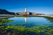 Lighthouse Photo Posters - Peggys Cove lighthouse Poster by David Nunuk