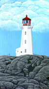 New England Lighthouse Paintings - Peggys Cove Lighthouse Painting by Frederic Kohli