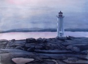 Cove Mixed Media - Peggys Cove Lighthouse  by Patricia L Davidson