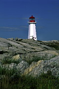 Peggy's Cove Lighthouse Print by Sally Weigand
