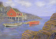 Peggy's Cove Lobster Pots Print by Ian  MacDonald