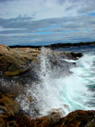 Waves Splash Photos - Peggys Cove Splash III by Al Bourassa