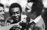 Pele Photos - PELE & BECKENBAUER, c1977 by Granger
