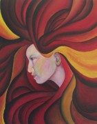 Goddess Mythology Paintings - Pele by Audrey N Reda