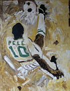 Pele Paintings - Pele by Wayne LE ONE