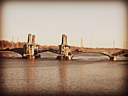 Brown Tones Photos - Pelham Bridge in Sepia by Paulette Wright