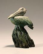 Pond Sculptures - Pelican 1 by Joshua Spendlove