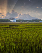 Pawleys Island Prints - Pelican Inn Sunrise Print by Ginny Horton