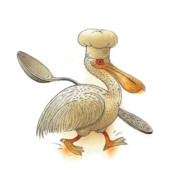 Pelican Print by Kestutis Kasparavicius