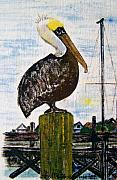 Folk Tapestries - Textiles - Pelican Post by Phyllis Tannerfrye