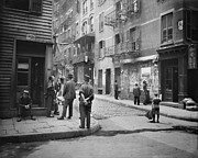 Tenements Prints - Pell Street In New York Citys Chinatown Print by Everett