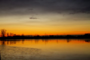 Lightning Fine Art Posters Posters - Pella Ponds  December 16th Sunrise Poster by James Bo Insogna