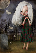 Graveyard Paintings - Pelottava by Jessica Grundy
