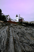 Maine Lighthouses Framed Prints - Pemaquid Light Framed Print by Timothy Johnson