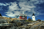 Pemaquid Lighthouse Posters - Pemaquid Lighthouse Poster by Alana Ranney