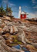 Pemaquid Point Framed Prints - Pemaquid Point 2 Framed Print by Fred LeBlanc