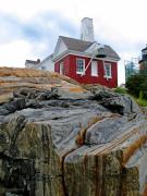 Pemaquid Lighthouse Digital Art Framed Prints - Pemaquid Point  Framed Print by Garth Glazier