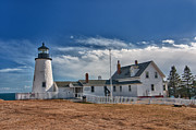 Pemaquid Lighthouse Framed Prints - Pemaquid Point Lighthouse 4800 Framed Print by Guy Whiteley