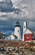 Pemaquid Lighthouse Framed Prints - Pemaquid Point Lighthouse 4821 Framed Print by Guy Whiteley