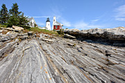 Beacon Photos - Pemaquid Point Lighthouse in Maine by Olivier Le Queinec