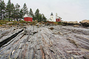 Pemaquid Point Framed Prints - Pemaquid Point Lighthouse Framed Print by Jack Schultz