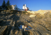 Pemaquid Posters - Pemaquid Point Lighthouse  Poster by John Burk