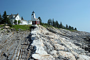 Pemaquid Lighthouse Art - Pemaquid Point Lighthouse by Ted Kinsman