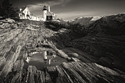 Low Angle View Originals - Pemaquid Point Reflection by George Oze