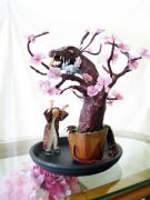 Pen Sculptures - Pen-Jing Dragon Plum Tree by Francesa Miller