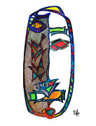 Aboriginal Art Drawings Framed Prints - Penance Framed Print by Dan Daulby
