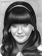 Zooey Deschanel Acrylic Prints - Pencil Portrait of Zooey Deschanel Acrylic Print by In God We Trust