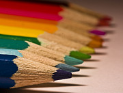 Colored Pencil Photos - Pencil Rainbow by Dr David James Killock