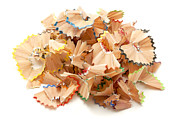 Coloured Pencil Prints - Pencil shavings Print by Fabrizio Troiani