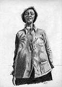 African-american Drawings - Pencil Study of photograph by Diana Davenport