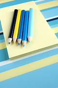 Write Prints - Pencils And Paper Print by HD Connelly