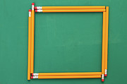Y120817 Art - Pencils Framing An Area Of Chalkboard by Jon Schulte