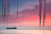 Icicles Photos - Pendants by the sea by Evgeni Dinev
